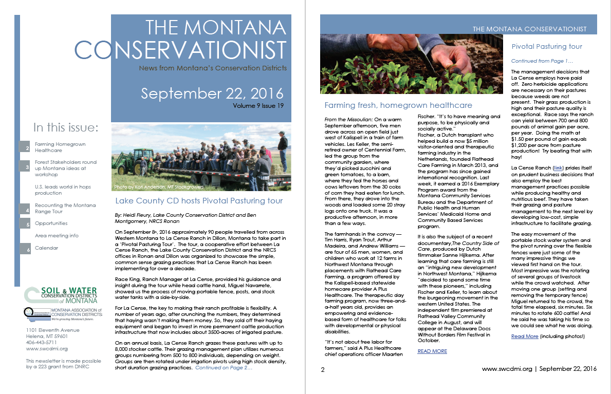 The Montana Conservationist September 22