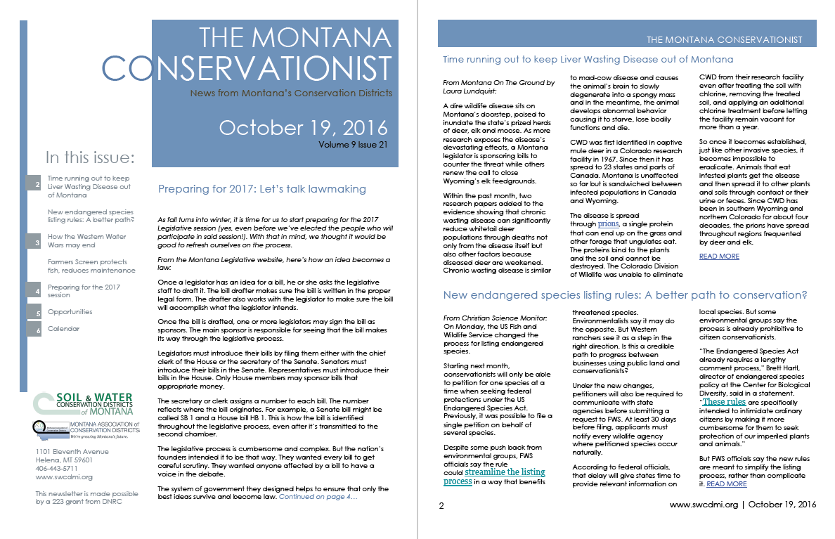 The Montana Conservationist October 19